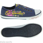 ED HARDY LADIES WOMENS UK SIZE 2.5 - 7.5 PURPLE STARLIGHT SHOES TRAINERS CANVAS