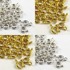 50 Metal BOLT RING CLASPS - Gold & Silver Plated - 6mm & 7mm