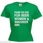 Beer Women Snooker Ladies Lady Fit T Shirt Size 6 -16 $11.69 USD on eBay