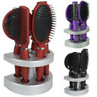 Salon Styler 5 Piece Quality Hair Care Hair Brush Gift Set With Mirror & Stand