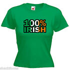 100% Irish Ireland Ladies Lady Fit T Shirt Size 6 -16