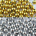 3mm 4mm 5mm 6mm Acrylic Round Silver/Gold Plated Crimp Spacer Beads Jewellery