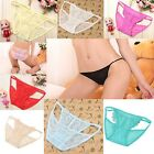 Womens Sexy Lingerie Butterfly Mesh Lace Through Panty Briefs Knickers Underwear