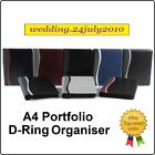 ★ A4 BUSINESS PORTFOLIO D-RING CONFERENCE PU LEATHER ORGANISER BINDER ZIP FOLDER