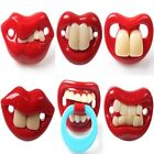 1pcs Fashion Red Funny 6 Different Style Lips Dummy Joke Prank Pacifier Soother