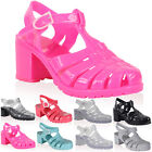 New Ladies Jelly Womens Retro Beach Flip Flop Summer Heel Sandals Shoes Size 4-9