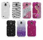 For Samsung Galaxy S 4 Active i537 At&t Bling Gem Hard Cover Snap On Case