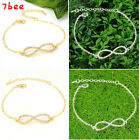 Fashion Cute Infinity Rhinestone Studded Infinite Chain Bracelet Gift