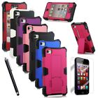 Hybrid Rugged Defender Dust Shockproof Stand Case Cover For Apple iPhone 4 4S 4G