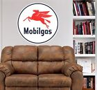 Vintage Mobil Gas Sign WALL GRAPHIC FAT DECAL MAN CAVE OFFICE ROOM OIL DECOR