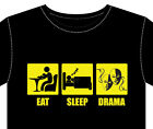 New Mens T-Shirt DRAMA gift top fun stage play actor mask costume makeup arts