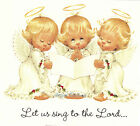 Ceramic Decals Lil Christmas Angels Sing Candle Manger  3 Designs