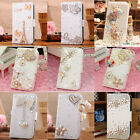 Luxury Diamond Heart Bow Crown Style PU Leather Case Cover For iphone 4s 4 4g