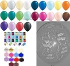 10 Table Kit Happy Birthday Helium Balloons Ribbon Weights Party Decorations