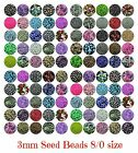 30g x Approx 3mm Size 8/0 Glass Seed Beads Jewellery Beading ** PICK COLOUR **