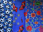 Polycotton & Cotton Fabric Footballs/Monsters/Racing Cars