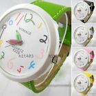 Hot Women Lady Girls Dial Pencil Pointer Watch Quartz Leather Wrist Watch Gift
