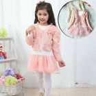 NWT Girl Outfit Jacket Tutu Top Dress Toddler Party Pageant  SZ 3-6T Xmas Flower