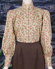 FRONTIER CLASSICS  Victorian Cream Floral Blouse Dickens SASS Steampunk