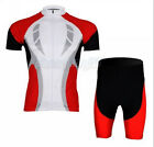 Red Speed New Cycling Bike Short Sleeve Clothing Bicycle Jersey + Shorts Set