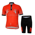 Skeleton Hand New Cycling Bike Short Sleeve Bicycle Women Jersey + Shorts Set