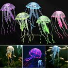 Fluorescent Glowing Effect Jellyfish Aquarium Fish Ornament Swim Pool Decor B20E