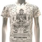 w27 M L XL Japanese Irezumi Tattoo VNECK T-shirt Hindu God Lord Magic Heaven mma