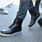 2013 New Mens Combat Boots Ankle Boots Winter Sneakers Zip-up Shoes XMX011