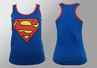 Authentic DC COMICS SuperGirl Racer Girl Juniors Official Tank Top S M L XL NEW