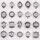Free Ship 10pcs Lots Antique Silver Quartz Watch Face For Beading Jewellery New