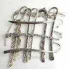 50x Wholesale Tibet Antique Silver Plated Bookmarks With Loop To Beading OPTION