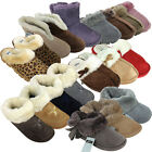 New Womens Faux Suede Furry Slippers Warm Luxury Quality Slipper Ladies UK 3-8