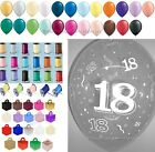 """10 Table Kit 18th Birthday Helium Balloons Ribbons Weights Party Decorations 11"""""""