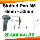 M5 Stainless A2 Slotted Pan Head Machine Screws