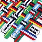 Fashion Army Militray Nylon Nato Sport Watch Band Straps For Mens Women
