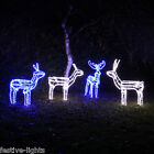 1.2M OUTDOOR GARDEN REINDEER CHRISTMAS SILHOUETTE DECORATION FI1.2GURE LED LIGHT
