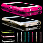 LUXURY FULL ALUMINUM METAL FRAME BUMPER CASE COVER FOR IPHONE 5 5G 5S FREE FILM