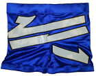 Blue w/ White w/ Black Trim Design Biker Style Pro Wrestling Shorts, WWE