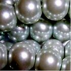 Silver Grey 4mm 6mm 8mm 10mm Glass Pearl Beads - choice by size