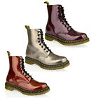 WOMENS LADIES DR MARTENS PASCAL 8 EYE LACE UP LEATHER ANKLE PATENT BOOTS SIZE