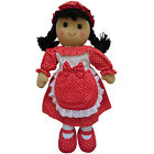 Red Polka Dress Rag Doll - Handmade - Powell Craft - Medium 19cms or Large 40cms