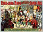 3448.Ringling Brothers Joan of Arc Theater Circus POSTER.Office art decoration