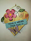 Heart Shaped Mum Wooden Wall Plaque for Home or Garden Great Novelty Gift