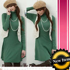Forever Urban Basic Green Jersey Tunic Dress L-XL-1X-2X