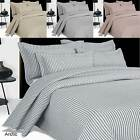 ARCTIC EMBROIDERED COTTON BEDSPREAD THROW LUXURY STRIPE DESIGN ALL SIZES
