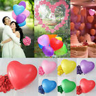 50pc/100pc Heart Shape Balloons Wedding Anniversary Valentines Party Decoration