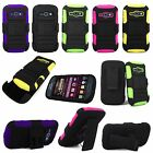 For Samsung Galaxy Ring M840 / Prevail 2 Hybrid Holster Kickstand Belt Clip Case