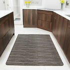 Small Large Brown Easy Clean Rugs Modern Rugs Anti Slip Rubber Kitchen Rugs UK