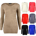 New Ladies Fluffy Soft Stretch Knitted Womens Warm Winter Jumper Top Size 8-14