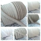 BY THE ROLL - PICOT LACE EDGE NATURAL LINEN & COTTON EUROPEAN BIAS BINDING